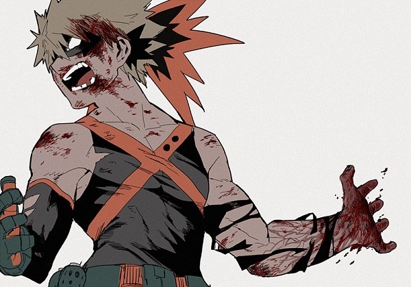 Tags: Anime, Abaraya, Boku no Hero Academia, Bakugou Katsuki, PNG Conversion, Pixiv, Fanart, Fanart From Pixiv