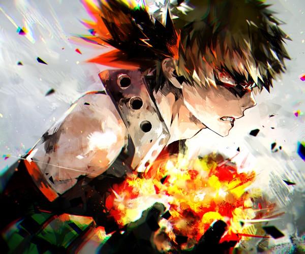 Tags: Anime, Pixiv Id 1734923, Boku no Hero Academia, Bakugou Katsuki, Fanart From Pixiv, PNG Conversion, Pixiv, Fanart