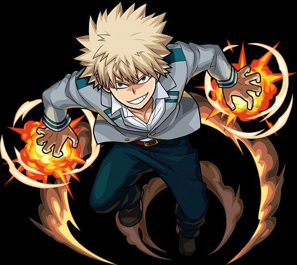 Tags: Anime, Boku no Hero Academia, Monster Strike, Bakugou Katsuki, Official Art