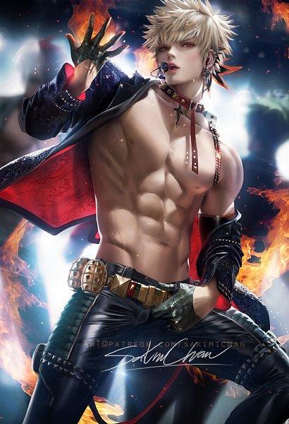 Tags: Anime, Sakimichan, Boku no Hero Academia, Bakugou Katsuki, Pixiv, Fanart, Fanart From Pixiv