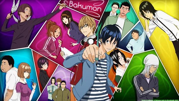 Tags: Anime, Bakuman。, Azuki Miho, Niizuma Eiji, Miyoshi Kaya, Takagi Akito, Aoki Yuriko, Mashiro Moritaka, Hiramaru Kazuya, Iwase Aiko, Fukuda Shinta, HD Wallpaper, Facebook Cover