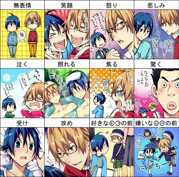 Tags: Anime, Tanio, Bakuman。, Hattori Akira, Takagi Akito, Mashiro Moritaka, Pixiv, Fanart, Ashirogi Muto