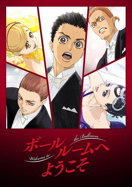 Tags: Anime, Kishida Takahiro, Production I.G., Ballroom e Youkoso, Hyoudou Kiyoharu, Hanaoka Shizuku, Akagi Mako, Akagi Gaju, Fujita Tatara, Ballroom, Cover Image, Key Visual, Official Art