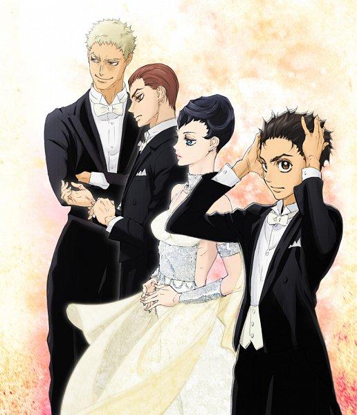 Tags: Anime, Kishida Takahiro, Production I.G., Ballroom e Youkoso, Hanaoka Shizuku, Sengoku Kaname, Fujita Tatara, Hyoudou Kiyoharu, Ballroom, Official Art, Key Visual, Cover Image