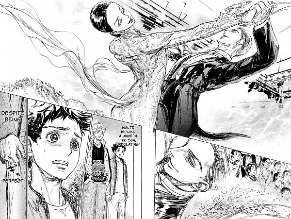 Tags: Anime, Takeuchi Tomo, Ballroom e Youkoso, Hongo Chizuru, Sengoku Kaname, Ballroom, Manga Page, Scan