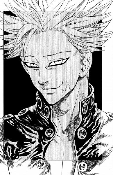 Tags: Anime, Suzuki Nakaba, Nanatsu no Taizai (Suzuki Nakaba), Ban (Nanatsu no Taizai), PNG Conversion, Mobile Wallpaper, Official Art, Manga Page, Scan
