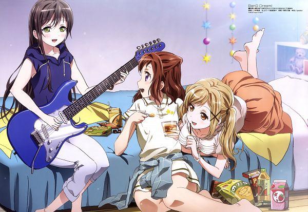 Tags: Anime, ISSEN, Xebec, BanG Dream!, Ichigaya Arisa, Hanazono Tae, Toyama Kasumi, Official Art, Scan