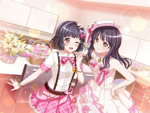 Tags: Anime, Craft Egg, BanG Dream! Girls Band Party!, Ushigome Yuri, Ushigome Rimi, Official Art, Official Card Illustration