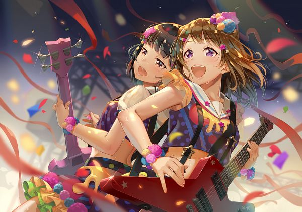 Tags: Anime, Terumii, BanG Dream! Girls Band Party!, BanG Dream!, Ushigome Rimi, Toyama Kasumi, Fanart From Pixiv, Pixiv, Fanart