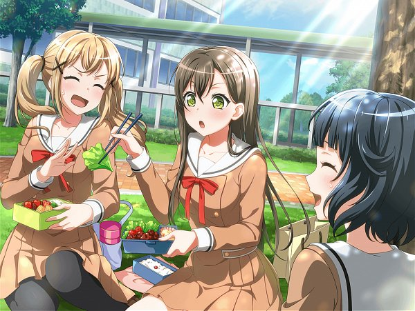 Tags: Anime, Craft Egg, BanG Dream! Girls Band Party!, BanG Dream!, Ichigaya Arisa, Ushigome Rimi, Hanazono Tae, Thermos, Official Art, Official Card Illustration