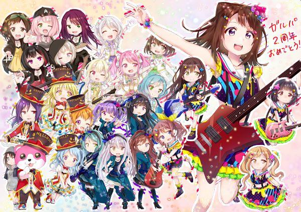 Tags: Anime, Pixiv Id 14998875, BanG Dream! Girls Band Party!, BanG Dream!, Uehara Himari, Hikawa Hina, Seta Kaoru, Toyama Kasumi, Aoba Moca, Shirokane Rinko, Ichigaya Arisa, Yamato Maya, Tsurumaki Kokoro