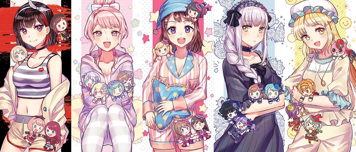 Tags: Anime, tiny (tini3030), Shugo Chara!, BanG Dream! Girls Band Party!, BanG Dream!, Uehara Himari, Hikawa Hina, Seta Kaoru, Aoba Moca, Shirokane Rinko, Ichigaya Arisa, Yamato Maya, Tsurumaki Kokoro
