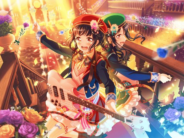 Tags: Anime, Craft Egg, BanG Dream! Girls Band Party!, BanG Dream!, Ushigome Yuri, Ushigome Rimi, Official Card Illustration, Official Art