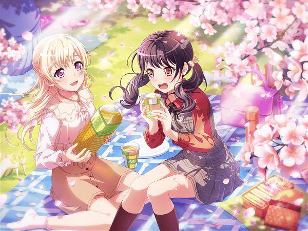 Tags: Anime, Craft Egg, BanG Dream! Girls Band Party!, Futaba Tsukushi, Shirasagi Chisato, Official Card Illustration, Official Art