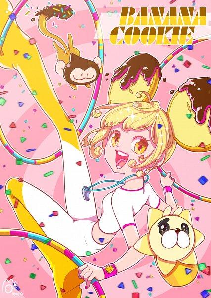 Tags: Anime, Pixiv Id 5884455, Cookie Run, Choco Monkey, Savannahna Lion, Banana Cookie, Fanart From Pixiv, Pixiv, Fanart