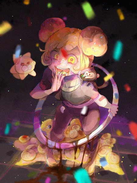 Tags: Anime, Pixiv Id 4561482, Cookie Run, Banana Cookie, Choco Monkey, Hoop, Coin, Pixiv, Fanart, Fanart From Pixiv