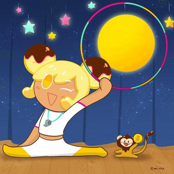 Tags: Anime, Eminu, Cookie Run, Choco Monkey, Banana Cookie, Hoop, Whistle (Object), Coin, Hoola Hoop, Fanart, Twitter