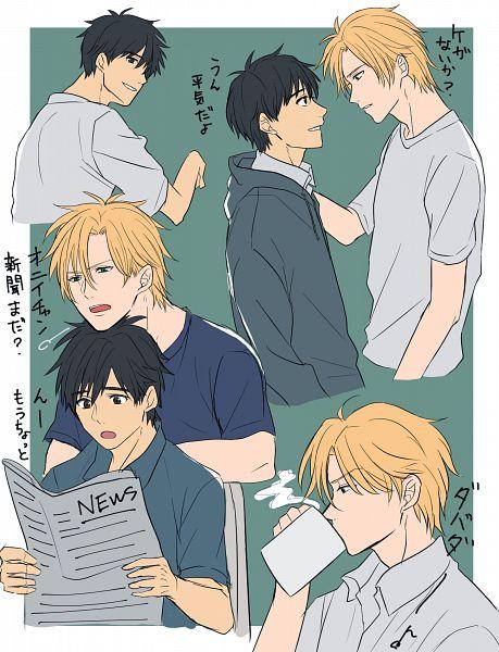 Tags: Anime, Pixiv Id 30197409, Banana Fish, Okumura Eiji, Ash Lynx, Fanart From Pixiv, Pixiv, Fanart