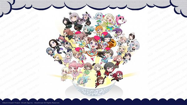Tags: Anime, DMM.Futureworks, SANZIGEN, BanG Dream! Girls Band Party! PICO, Bang Dream! Girls Band Party! PICO ~OHMORI~, BanG Dream! Dai 2-ki, BanG Dream! Girls Band Party!, BanG Dream!, Hikawa Hina, Seta Kaoru, Toyama Kasumi, Tamade Chiyu, Aoba Moca