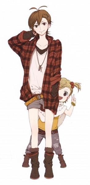 Tags: Anime, Yoshino Satsuki, Barakamon, Yamamura Miwa, Kotoishi Naru, Official Art, Scan