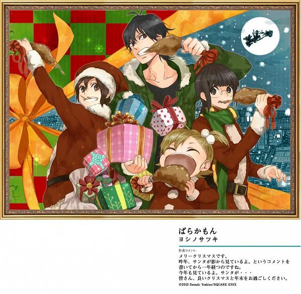 Tags: Anime, Yoshino Satsuki, Barakamon, Arai Tamako, Kotoishi Naru, Handa Seishuu, Yamamura Miwa, Meat, Official Art