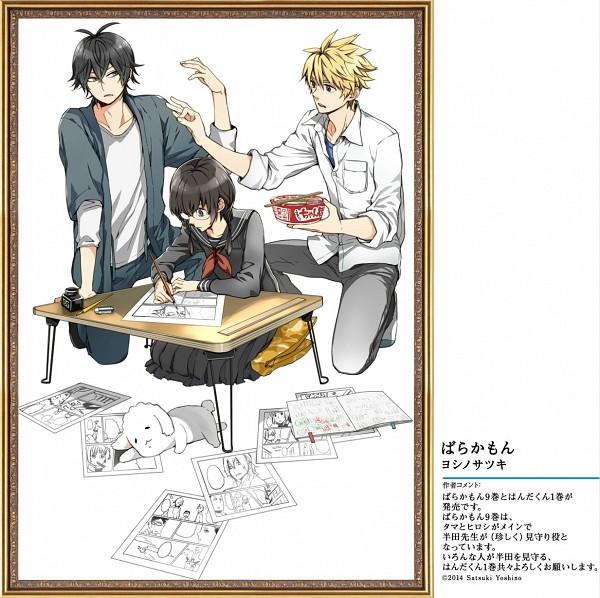 Tags: Anime, Yoshino Satsuki, Barakamon, Arai Tamako, Kido Hiroshi, Handa Seishuu, Drawing (Action), Official Art, Scan