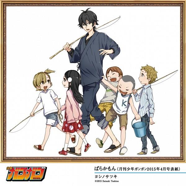 Tags: Anime, Yoshino Satsuki, Barakamon, Kubota Hina, Kotoishi Naru, Handa Seishuu, Official Art