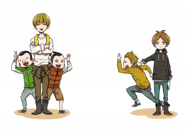 Tags: Anime, Yoshino Satsuki, Barakamon, Shin Yoshida, Kazuma Higashino, Character Request, Scan, Official Art