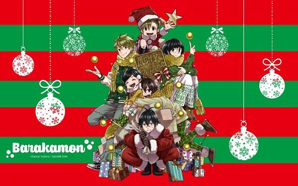 Tags: Anime, Yoshino Satsuki, Barakamon, Arai Tamako, Kido Hiroshi, Kotoishi Naru, Yamamura Miwa, Handa Seishuu, Kubota Hina, Christmas Ornament, Wallpaper, Official Art, Official Wallpaper