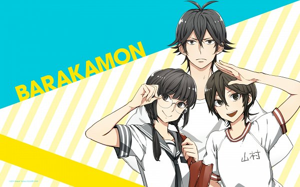 Tags: Anime, Yoshino Satsuki, Barakamon, Yamamura Miwa, Arai Tamako, Handa Seishuu, Wallpaper, Official Art, Official Wallpaper