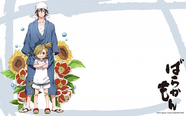 Tags: Anime, Yoshino Satsuki, Barakamon, Kotoishi Naru, Handa Seishuu, Official Art, Official Wallpaper, Wallpaper