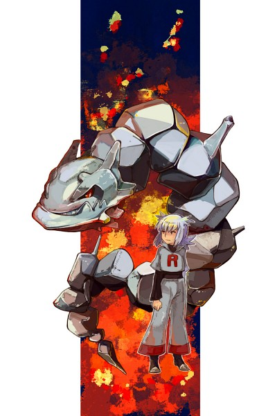 Tags: Anime, Makisen Atori, Pokémon, Bashou (Pokémon), Steelix, Fanart, Pixiv, Fanart From Pixiv