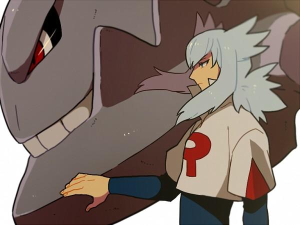 Tags: Anime, Onuko (Pixiv1861313), Pokémon, Bashou (Pokémon), Steelix, Pixiv, Fanart From Pixiv, Fanart