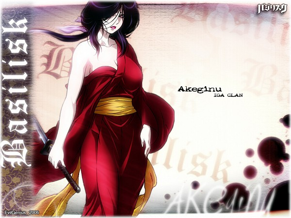 Tags: Anime, Basilisk, Akeginu, Wallpaper