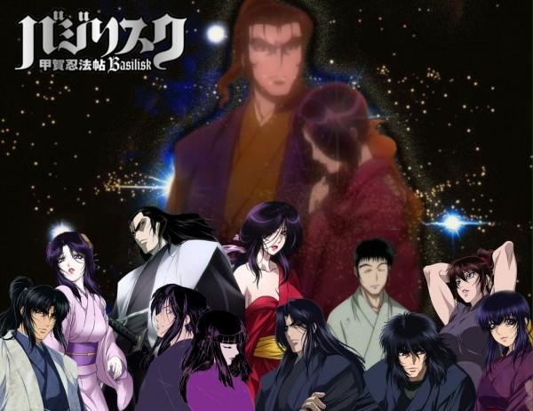 Tags: Anime, GONZO (Studio), Basilisk, Yashamaru, Chikuma Koshiro, Oboro, Okoi (Basilisk), Yakushiji Tenzen, Kouga Gennosuke, Akeginu, Kisaragi Saemon, Danjo, Kagero