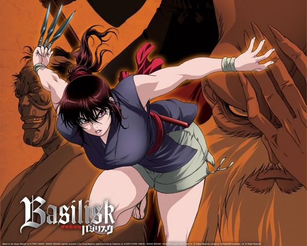 Tags: Anime, GONZO (Studio), Basilisk, Okoi (Basilisk), Amayo Jingoro, Azuki Rousai, Wallpaper, Official Art