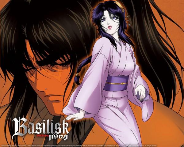 Tags: Anime, GONZO (Studio), Basilisk, Kouga Gennosuke, Kagero, Wallpaper, Official Art