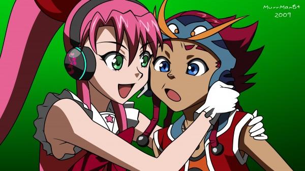 Tags: Anime, Basquash!, Dan JD, Spanky (Basquash!), Rouge (Basquash!), Wallpaper