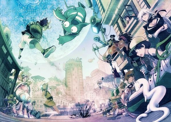 Tags: Anime, Pixiv Id 5206, Basquash!, Rouge (Basquash!), Alan Naismith, Miyuki Ayukawa, Spanky (Basquash!), Iceman Hotty, Crawley (Basquash!), Citron (Basquash!), Flora Skybloom, Haruka Gracia, Ganz Bogard