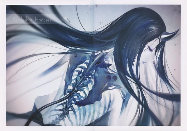 Tags: Anime, Kodama (Wa-ka-me), Artifact, Kantai Collection, Battleship-Symbiotic Hime (Kantai Collection), Spine (Bone), Transparent Body, Skeleton Arm, X-ray, Ribs, Crease, Scan, Comic Market