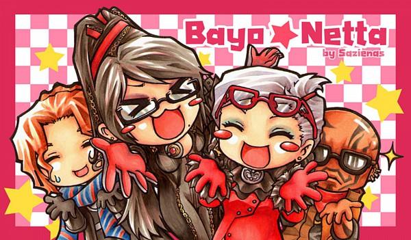 Tags: Anime, Bayonetta, Rodin, Jeanne (Bayonetta), Bayonetta (Character), Luka Redgrave, Lucky☆Star (Parody), Lucky☆Star Style, Artist Request