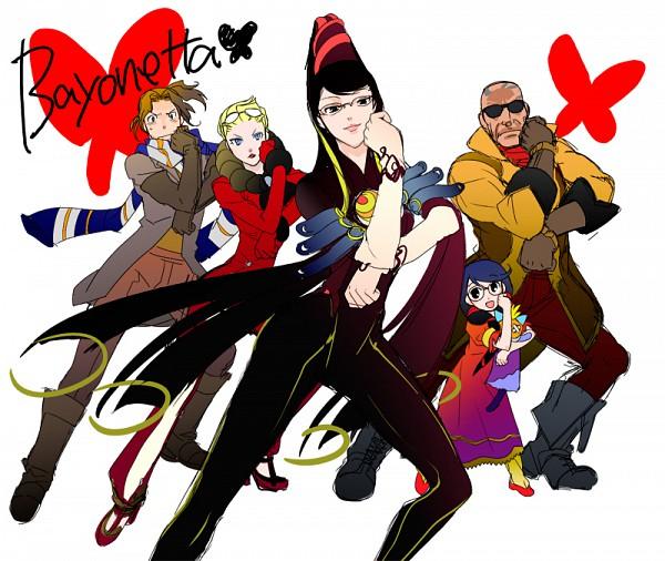 Tags: Anime, Nanto Hanamaru, Bayonetta, Rodin, Jeanne (Bayonetta), Cereza, Luca (Character), Bayonetta (Character), Luka Redgrave, Pixiv, Sketch, Fanart