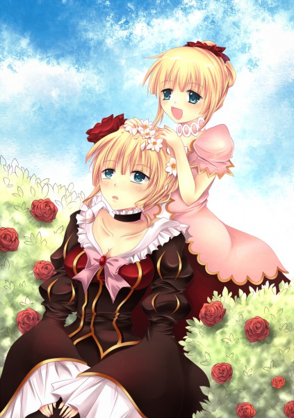 Tags: Anime, Murasakio, 07th Expansion, Umineko no Naku Koro ni, Beatrice, Garden, Fanart, Pixiv