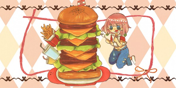 Tags: Anime, Pixiv Id 5897360, Bobobo-bo Bo-bobo, Beauty (Bobobo-bo Bo-bobo), Fast Food, French Fries
