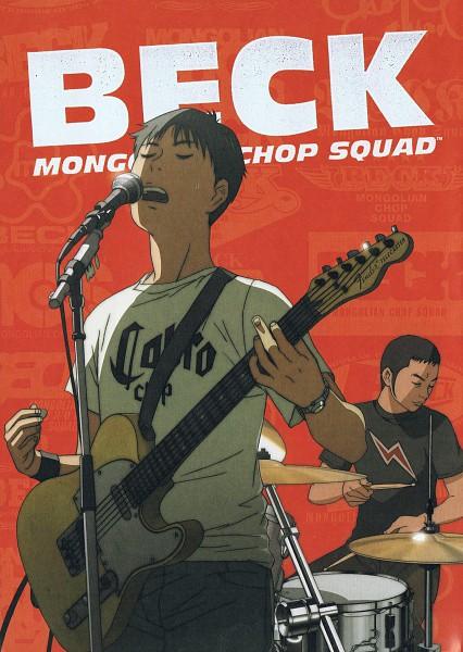 Tags: Anime, Sakuishi Harold, Beck, Sakurai Yuji, Tanaka Yukio, Drum, Playing Guitar, Fender Guitar, Drumsticks