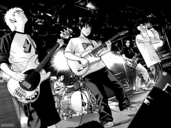 Tags: Anime, Beck, Sakurai Yuji, Tanaka Yukio, Taira Yoshiyuki, Minami Ryuusuke, Chiba Tsunemi, Musician, Playing Guitar, Drum