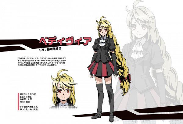 Tags: Anime, Uno Ichiro, Studio Pierrot, Divine Gate, Bedivere (Divine Gate), Cover Image, PNG Conversion, Official Art