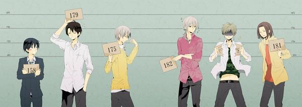 Tags: Anime, Pixiv Id 1183214, Beelzebub, Oga Tatsumi, Natsume Shintarou, Himekawa Tatsuya, Furuichi Takayuki, Miki Hisaya, Kanzaki Hajime, Identity Parade, Height Chart, Tōhōshinki (Beelzebub)