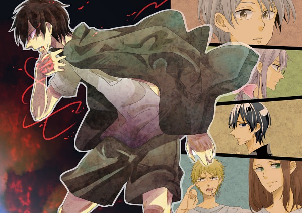 Tags: Anime, Pixiv Id 1183214, Beelzebub, Himekawa Tatsuya, Furuichi Takayuki, Miki Hisaya, Kanzaki Hajime, Oga Tatsumi, Natsume Shintarou, Fanart, Pixiv
