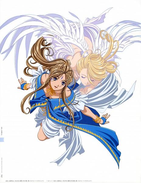 Tags: Anime, Matsubara Hidenori, Aah! Megami-sama, Matsubara Hidenori Illust Works, Holy Bell, Belldandy, Official Art, Scan
